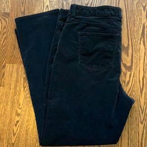 Croft & Barrow Fine Whale Corduroy Black Pants
